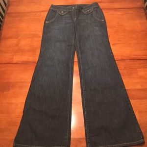 'New York & Company'  Dark Wide Leg Junior Jeans
